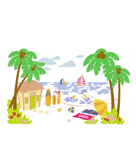 Beach Scene Paint By Number Wall Mural Kit