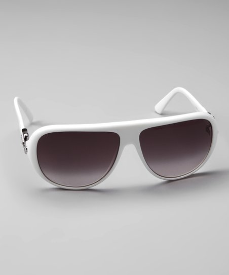 a6cee8318134 Fendi FENDI White Buckle Sunglasses | Zulily