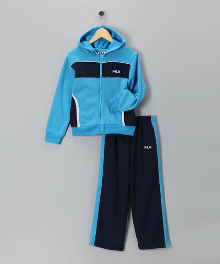 6aa742d58ca98 love this product Light Blue Fleece Zip-Up Hoodie & Sweatpants - Toddler &  Boys