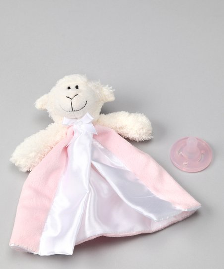 First Friends The Friendly Pacifier Pink Lamb Plush Toy Blanket