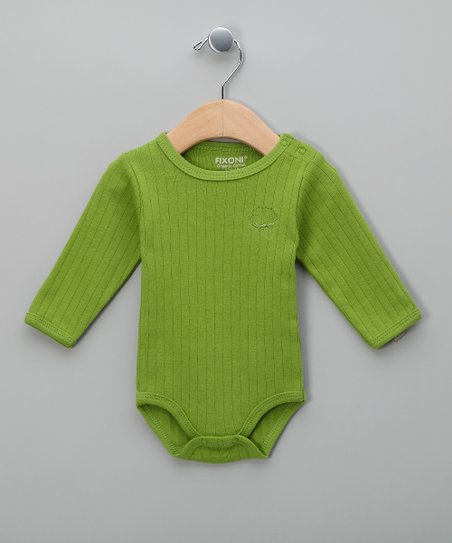 cb558f219bd1 Fixoni Country Green Ribbed Organic Bodysuit - Infant & Toddler | Zulily