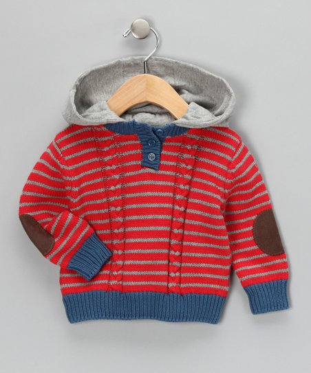 7b2839bee love this product Freddy Mine Classic Red Stripe Knit Sweater - Infant