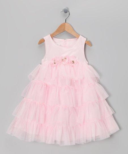 30d37caa6f0a2 Gerson & Gerson Pale Pink Flower Tiered Dress - Toddler   Zulily