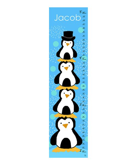 Stacked Penguin Personalized Growth Chart Best Price And Reviews Zulily