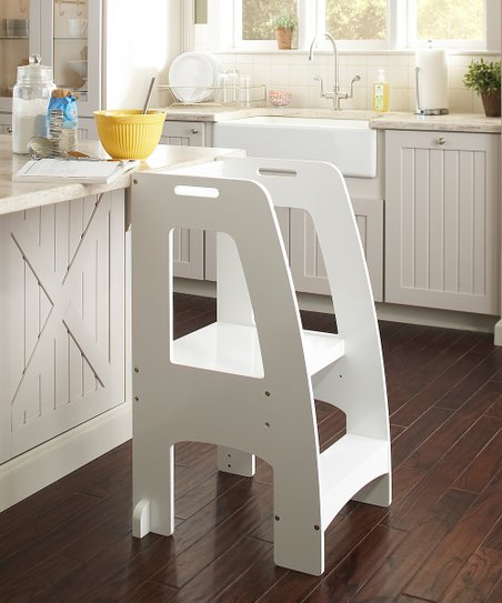Pleasing Guidecraft White Step Up Kitchen Helper Gmtry Best Dining Table And Chair Ideas Images Gmtryco