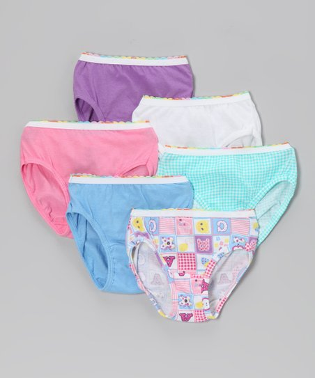 088d9279e19d love this product Hanes Blue & Pink 'ABC' Underwear Set - Toddler & Girls