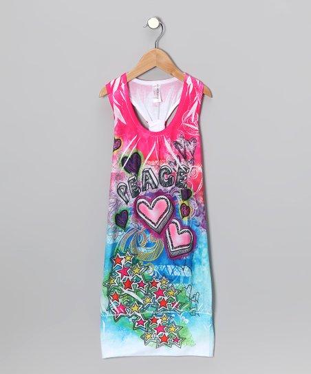 a84b28276e4 Happy Kids for Kids Pink Tie-Dye Racerback Dress - Girls