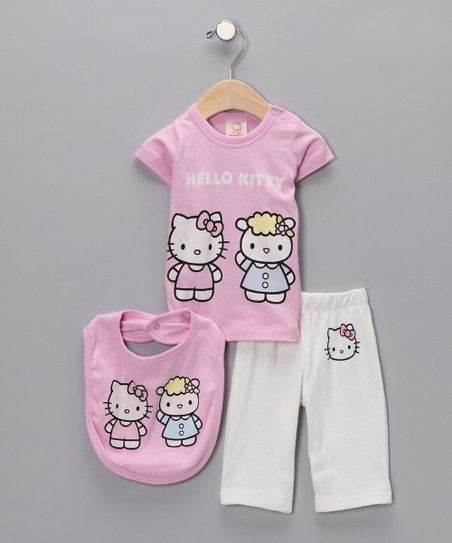 24283b354 Hello Kitty Pink Lamb Organic Layette Set - Infant | Zulily