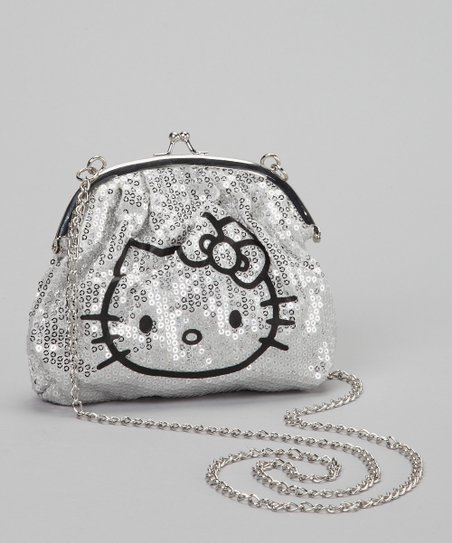 4f99bc114e love this product Silver Sequin Hello Kitty Crossbody Bag
