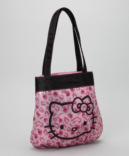e01c43d122 Hello Kitty Pink Leopard Sequin Tote
