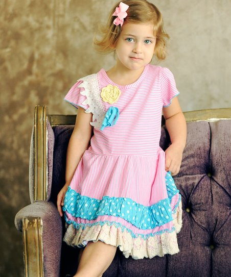 23cf1582a7317 Jelly the Pug Pink Olivia Twirl Dress - Toddler | Zulily
