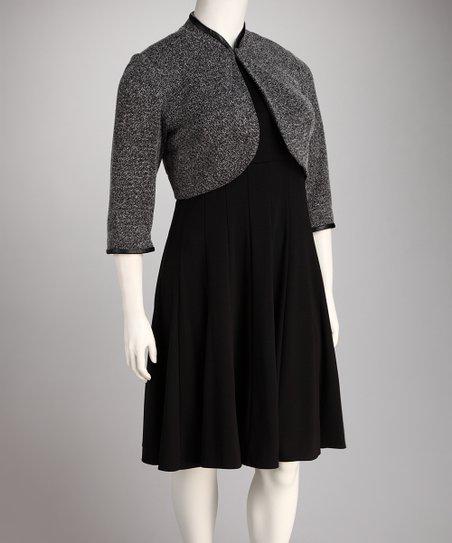 c429dcd294f love this product Black Plus-Size Empire-Waist Dress   Shrug