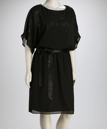 Jessica Howard Black Susan Plus-Size Dress