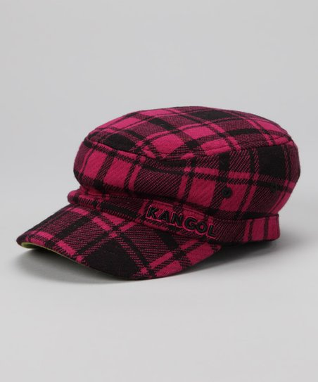 Kangol Magenta Plaid Flexfit Army Cap