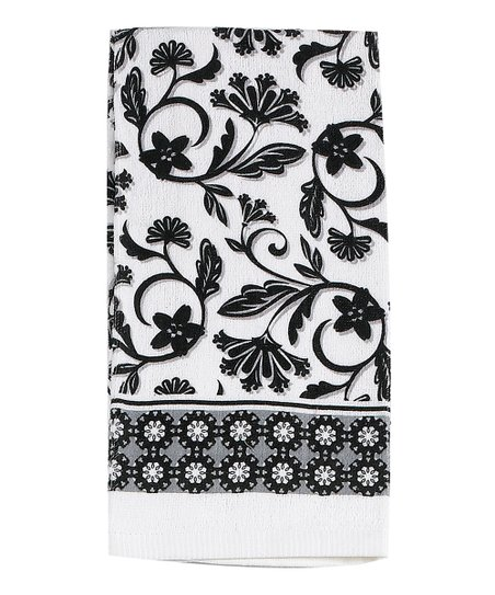 Black Cameo Dish Towel Set Of Two