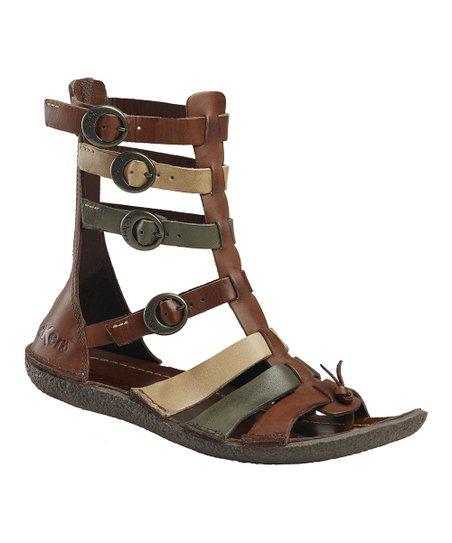 670ad9dacc0 Kickers Brown Pepita 3 Gladiator Sandal - Women