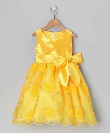 c79f16fdf629e Kid Fashion Gold Sunflower Dress - Toddler & Girls | Zulily