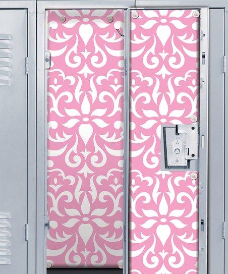 Love This Product Pink Damask Locker Wallpaper Set