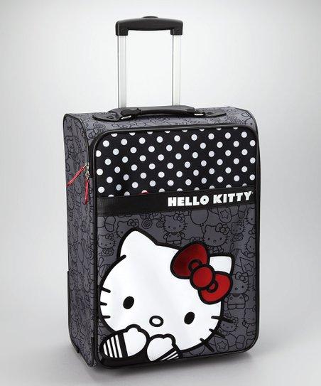 Loungefly Black Polka Dot Hello Kitty Suitcase  de09da837ab4