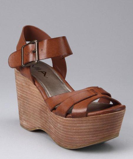 be036c7e0b MIA Shoes Luggage Jukebox Platform Sandal | Zulily