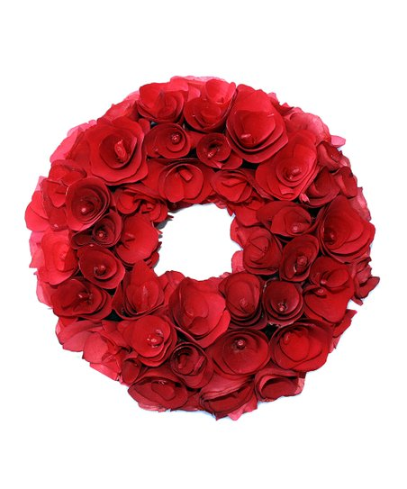 Red Wood Curl 16 Wreath Zulily