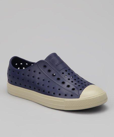 a4eec2de6a24 love this product Regatta Blue & White Jefferson Vegan Slip-On Sneaker