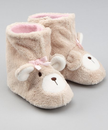 look out for sale retailer new specials Natural Steps Tan Bear Cozy Slipper | Zulily