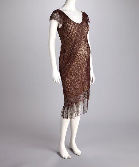 Fringe Maternity Dress