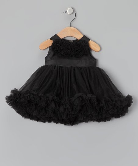 6ba16d3bdb3db Oopsy Daisy Baby Black Holiday Dress - Infant, Toddler & Girls | Zulily