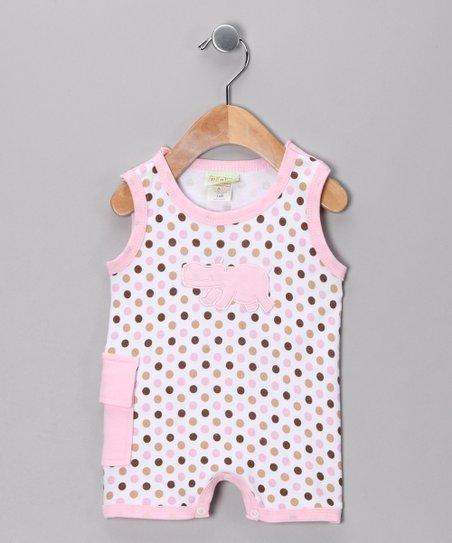 9c19d1ed1a2 Pink Polka Dot Hippo Romper - Infant