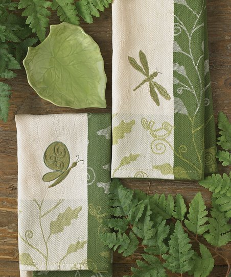 Park Designs Dragonfly Decorative Dish Towel - Set of Two