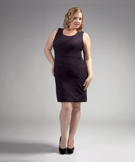 Queen Grace Plum The Larisa Plus-Size Dress | Zulily