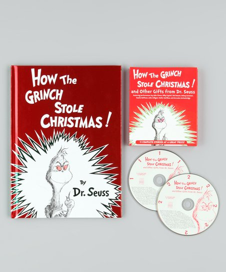 How The Grinch Stole Christmas Book Cover.Dr Seuss How The Grinch Stole Christmas Book Cd