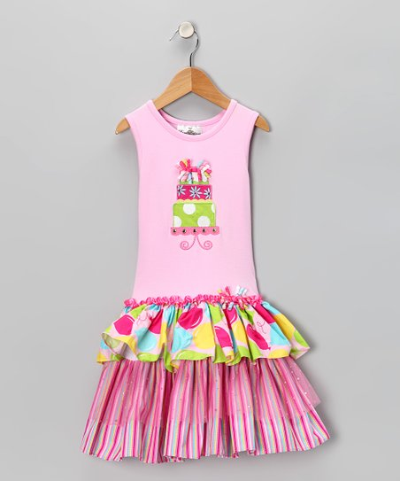 Rare Editions Pink Birthday Cake Dress Toddler Girls Zulily