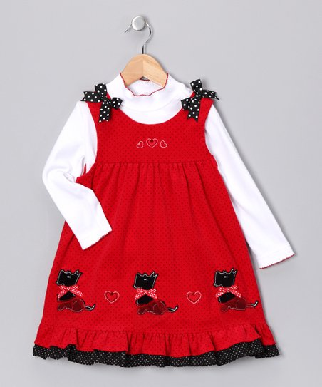9e7d272212f5 Rare Editions Red Scottie Jumper & Top - Toddler | Zulily