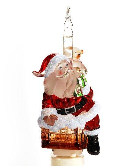Roman Roman Santa Claus In Chimney Christmas Bubble Night Light 7
