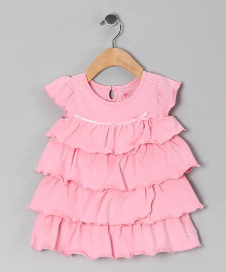 b66c00d17f91a RuffleButts Pink Ruffle Babydoll Dress - Infant   Zulily
