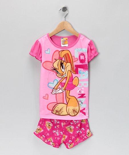69305ff4a Saramax Looney Tunes Lola Bunny Pajama Set - Girls
