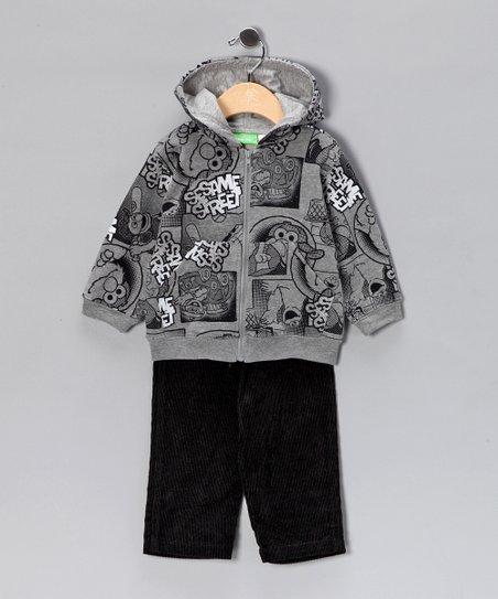 Children's Apparel Network Gray Zip-Up Hoodie & Pants - Infant