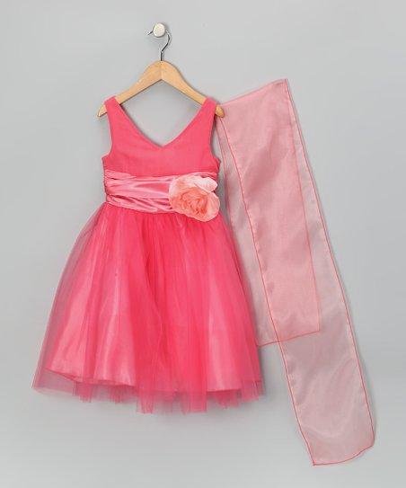 65759280659 Shanil Coral Tulle Flower Dress - Toddler   Girls