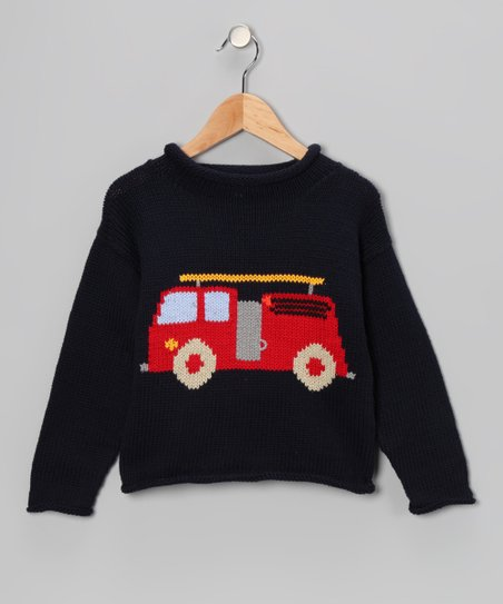 Fire Truck Sweater