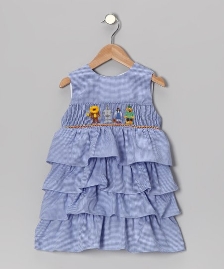 b70b9a20a3d8 Smockadot Kids Blue Wizard of Oz Ruffle Dress - Infant & Toddler ...