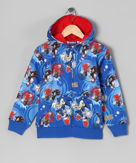 Blue Sonic The Hedgehog Zip Up Hoodie Boys Best Price And Reviews Zulily