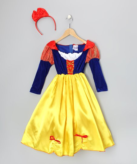 Story Book Wishes Yellow Deluxe Storybook Princess Snow White Dress - Kids