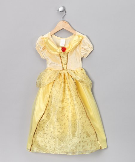 9df5a5d1a273 Story Book Wishes Yellow Princess Puff-Sleeve Dress - Girls | Zulily