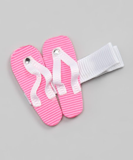 3cab919bcb73b2 Sugar Baby Hairbows Hot Pink Flip-Flop Clip