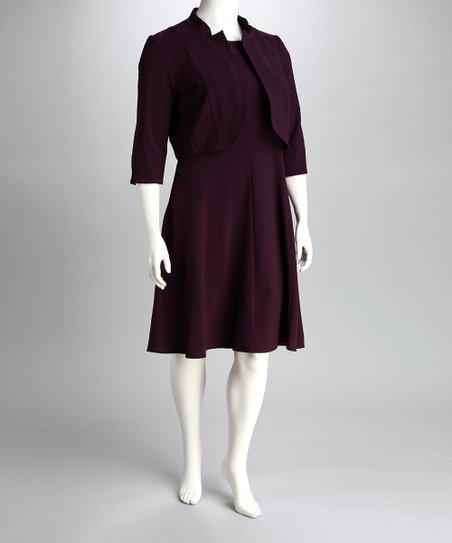 T. Milano Plum Plus-Size Blazer & Dress   Zulily