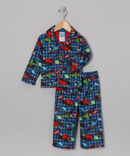 11291acc1 Thomas   Friends Blue Thomas the Train Pajama Set - Toddler