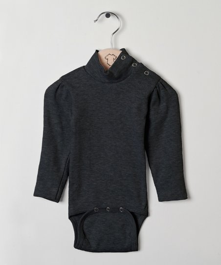 b80657f55133 Those Baby Basics Anthracite Turtleneck Bodysuit