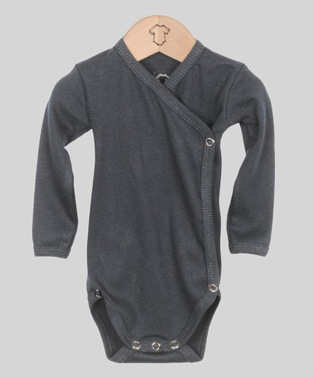 344e9582d75e Those Baby Basics Anthracite Wrap Bodysuit